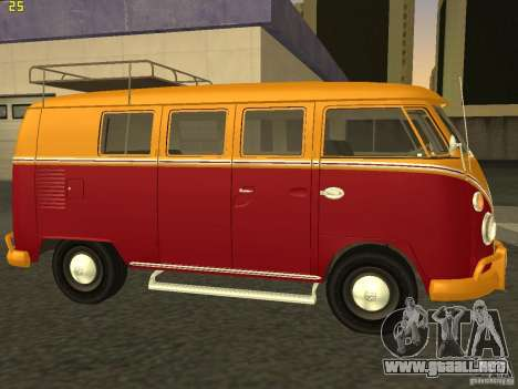 Volkswagen Transporter T1 Camper para GTA San Andreas left