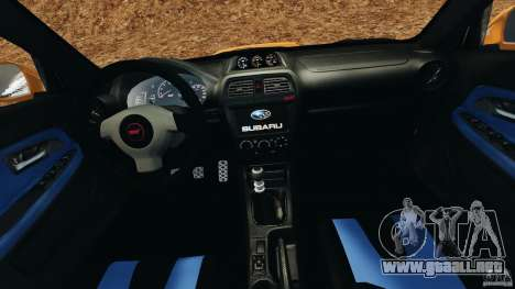 Subaru Impreza WRX STI 2005 para GTA 4 vista hacia atrás