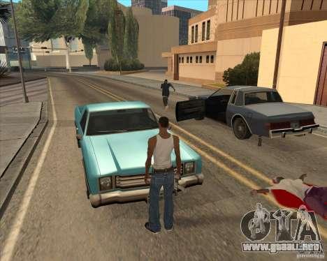Controladores salgan del coche para GTA San Andreas tercera pantalla