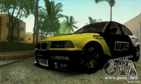BMW E36 Urban Perfomance Garage para visión interna GTA San Andreas