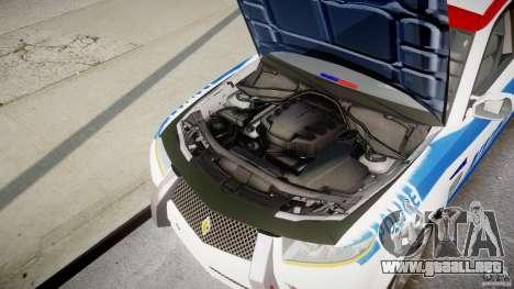 Carbon Motors E7 Concept Interceptor NYPD [ELS] para GTA 4 vista superior