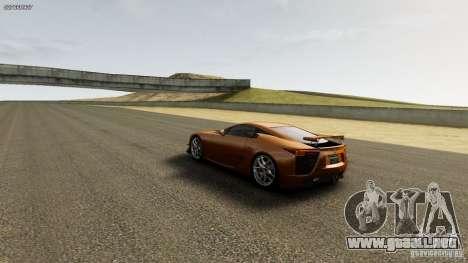 Lexus LF-A para GTA 4 vista hacia atrás