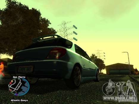 Subaru Impreza Wagon 2004 - 2002 para GTA San Andreas left