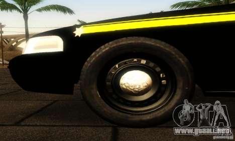 Ford Crown Victoria Montana Police para la visión correcta GTA San Andreas