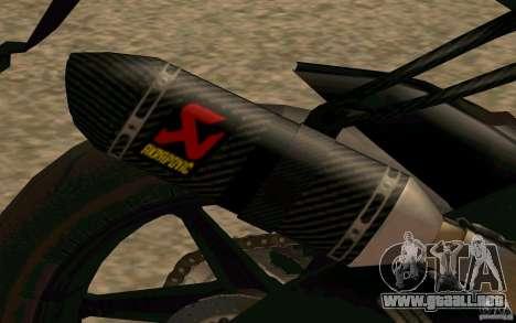 BMW S1000RR City Version para GTA San Andreas vista hacia atrás