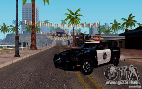Ford Shelby Mustang GT500 Civilians Cop Cars para GTA San Andreas left