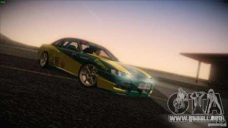 Nissan S14 para GTA San Andreas vista posterior izquierda