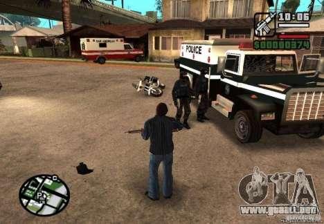 Ganó libertad de policía 1.0 para GTA San Andreas segunda pantalla