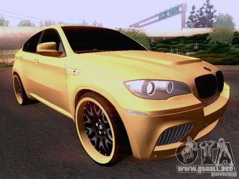 BMW X6M Hamann para GTA San Andreas left