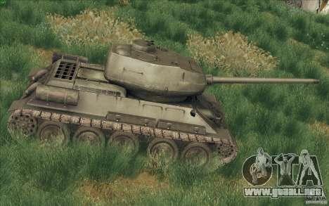 T-34-85 desde el juego COD World at War para GTA San Andreas left