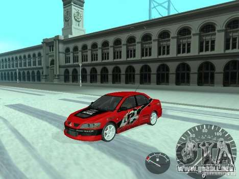 Mitsubishi Lancer Evolution 8 FQ400 para visión interna GTA San Andreas