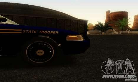 Ford Crown Victoria Orgeon Police para la visión correcta GTA San Andreas