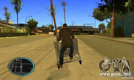 Shopping Cart Faggio V2 para GTA San Andreas vista hacia atrás