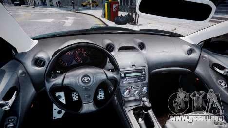 Toyota Celica Tuned 2001 v1.0 para GTA 4 vista hacia atrás