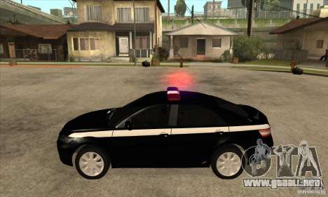 Toyota Camry 2010 SE Police RUS para GTA San Andreas left