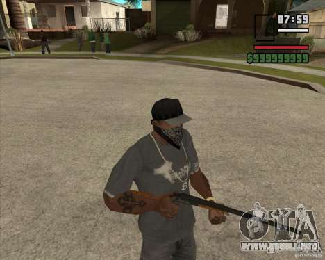 Call of Juarez Bound in Blood Weapon Pack para GTA San Andreas tercera pantalla