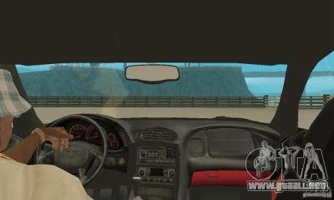 Chevrolet Corvette 5 para visión interna GTA San Andreas