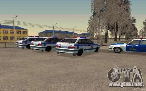 Vaz 2114 PSB policía para GTA San Andreas left