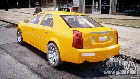 Cadillac CTS Taxi para GTA 4 vista lateral
