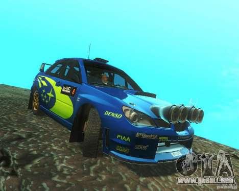 Subaru Impreza WRX STI DIRT 2 para GTA San Andreas vista hacia atrás