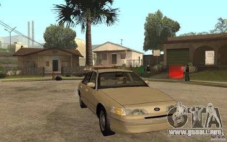 Ford Crown Victoria LX 1992 para GTA San Andreas vista hacia atrás