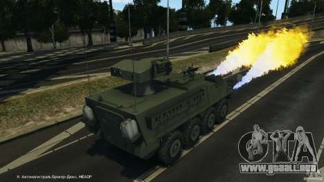 Stryker M1134 ATGM v1.0 para GTA 4 vista desde abajo