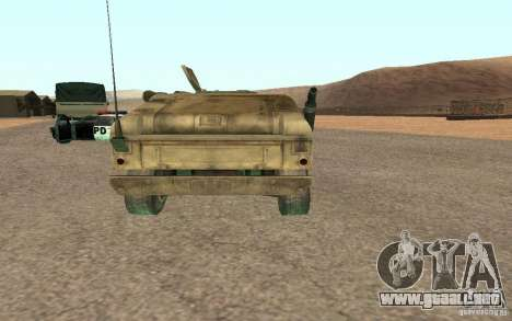 Hummer Spec Ops The Line para GTA San Andreas vista posterior izquierda