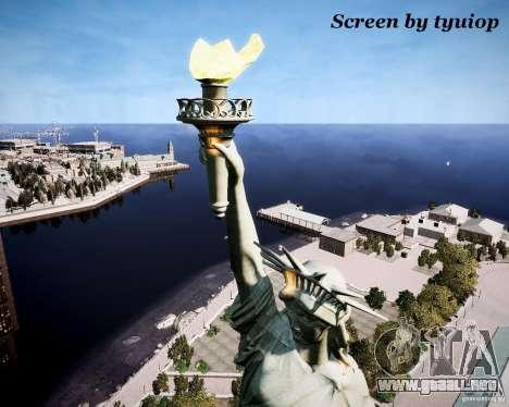 New Statue of Liberty para GTA 4 adelante de pantalla