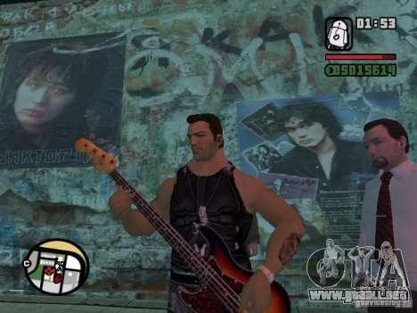 Canciones de la película en la guitarra para GTA San Andreas sucesivamente de pantalla