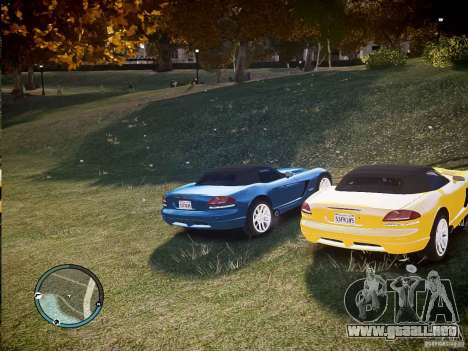 Dodge Viper SRT-10 2003 para GTA 4 visión correcta