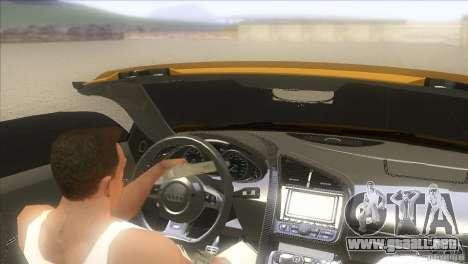 Audi R8 5.2 FSI Spider para GTA San Andreas left