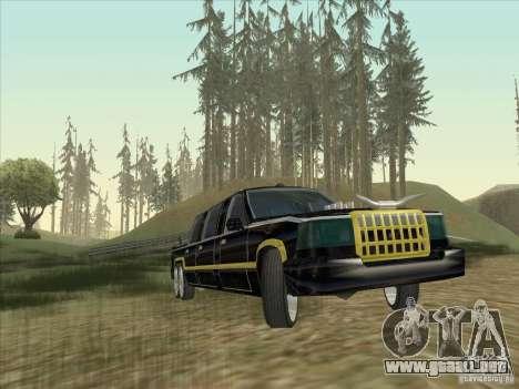 Limousine para GTA San Andreas vista hacia atrás