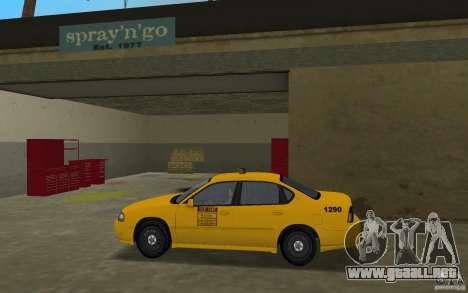 Chevrolet Impala Taxi para GTA Vice City left