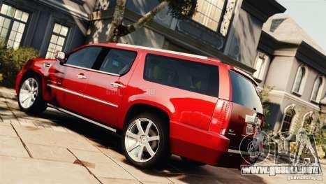 Cadillac Escalade ESV Platinum 2012 para GTA 4 left
