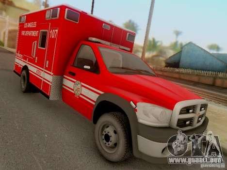 Dodge Ram 1500 LAFD Paramedic para GTA San Andreas vista hacia atrás
