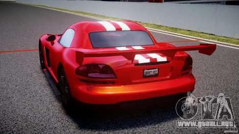 Dodge Viper RT 10 Need for Speed:Shift Tuning para GTA 4 Vista posterior izquierda