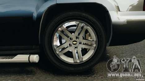 Chevrolet Tahoe LCPD SWAT para GTA 4 vista desde abajo
