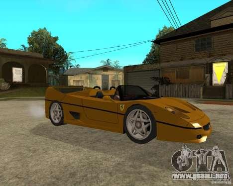 Ferrari F50 para la visión correcta GTA San Andreas