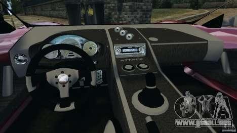 K-1 Attack Roadster v2.0 para GTA 4 vista hacia atrás
