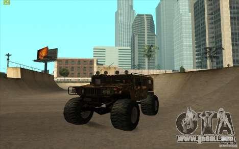 Hummer H1 Humster para GTA San Andreas vista posterior izquierda