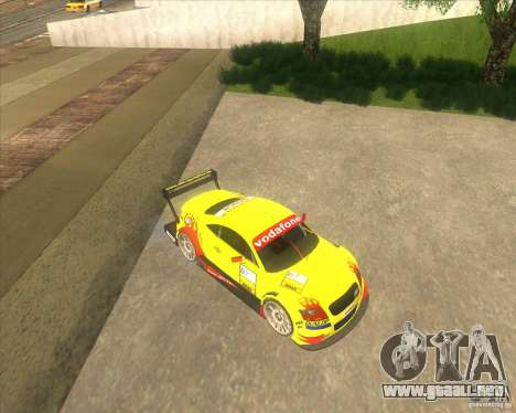 Audi TTR DTM racing car para GTA San Andreas vista posterior izquierda