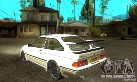 Ford Sierra RS500 Cosworth 1987 para GTA San Andreas vista hacia atrás