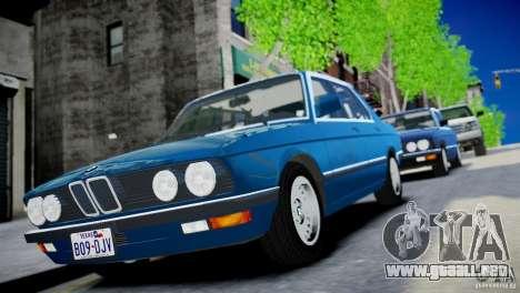 BMW 535 E28 para GTA 4 Vista posterior izquierda