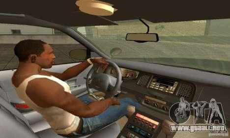 Ford Crown Victoria New Mexico Police para GTA San Andreas vista posterior izquierda