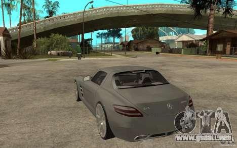 Mercedes-Benz SLS para GTA San Andreas vista posterior izquierda
