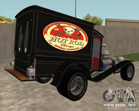 Ford model T 1923 Ice cream truck para GTA San Andreas left