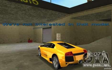 Lamborghini Murcielago LP640 para GTA Vice City vista lateral izquierdo