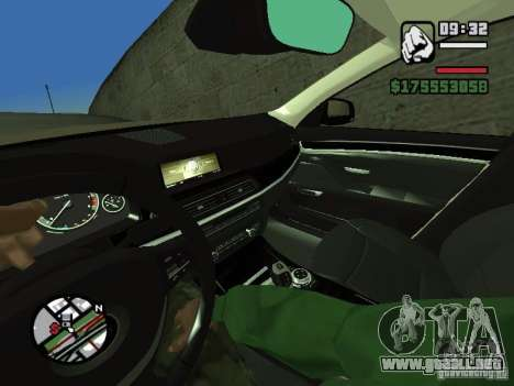 Primera persona (First-Person mod) para GTA San Andreas sexta pantalla