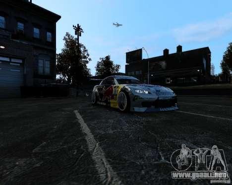 Mazda RX8 Redbull para GTA 4 vista hacia atrás