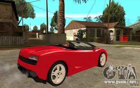 Lamborghini Gallardo LP560 Spider para la visión correcta GTA San Andreas